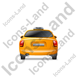 Taxi Back Yellow Icon, PNG/ICO, 256x256