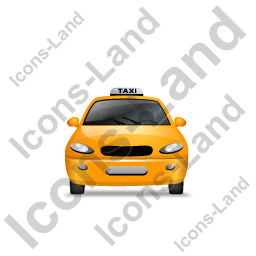 Taxi Front Yellow Icon, PNG/ICO, 256x256