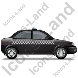 Taxi Right Black Icon