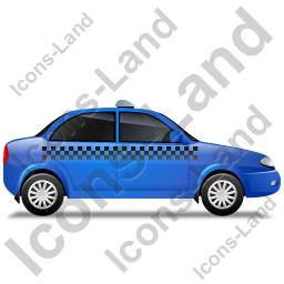 Taxi Right Blue Icon