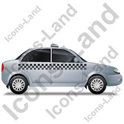 Taxi Right Grey Icon, PNG/ICO, 256x256