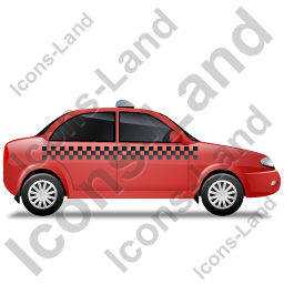 Taxi Right Red Icon