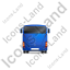 Coach Back Blue Icon, PNG/ICO, 64x64