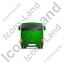 Coach Back Green Icon, PNG/ICO, 64x64