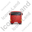 Coach Back Red Icon, PNG/ICO, 64x64