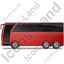 Coach Left Red Icon, PNG/ICO, 64x64