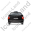 Taxi Back Black Icon