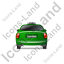 Taxi Back Green Icon, PNG/ICO, 64x64
