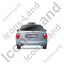 Taxi Back Grey Icon, PNG/ICO, 64x64