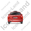 Taxi Back Red Icon