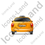 Taxi Back Yellow Icon