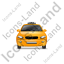 Taxi Front Yellow Icon, PNG/ICO, 64x64