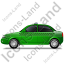 Taxi Left Green Icon, PNG/ICO, 64x64
