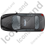Taxi Top Black Icon, PNG/ICO, 64x64