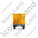 Box Trailer Back Yellow Icon, PNG/ICO, 128x128