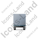 Box Trailer Front Grey Icon, PNG/ICO, 128x128