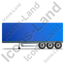 Box Trailer Left Blue Icon, PNG/ICO, 128x128