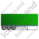 Box Trailer Right Green Icon