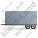 Car Trailer Left Grey Icon, PNG/ICO, 128x128