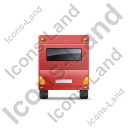 Caravan Back Red Icon, PNG/ICO, 128x128
