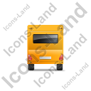 Caravan Back Yellow Icon, PNG/ICO, 128x128