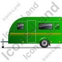 Caravan Left Green Icon, PNG/ICO, 128x128