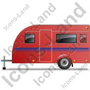 Caravan Left Red Icon, PNG/ICO, 128x128