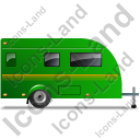 Caravan Right Green Icon, PNG/ICO, 128x128