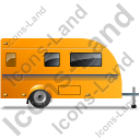 Caravan Right Yellow Icon, PNG/ICO, 128x128
