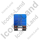 Containerized Generator Trailer Back Blue Icon
