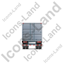Containerized Generator Trailer Back Grey Icon, PNG/ICO, 128x128