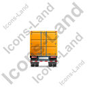 Containerized Generator Trailer Back Yellow Icon