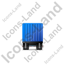Containerized Generator Trailer Front Blue Icon
