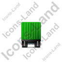 Containerized Generator Trailer Front Green Icon, PNG/ICO, 128x128