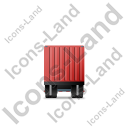 Containerized Generator Trailer Front Red Icon
