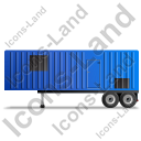 Containerized Generator Trailer Left Blue Icon, PNG/ICO, 128x128