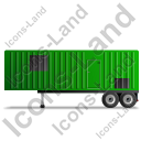 Containerized Generator Trailer Left Green Icon