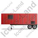 Containerized Generator Trailer Left Red Icon