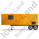 Containerized Generator Trailer Left Yellow Icon, PNG/ICO, 128x128