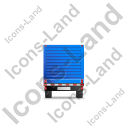 Flatbed Trailer Bulkhead Back Blue Icon, PNG/ICO, 128x128