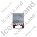 Flatbed Trailer Bulkhead Back Grey Icon, PNG/ICO, 128x128