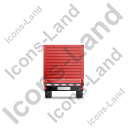 Flatbed Trailer Bulkhead Back Red Icon, PNG/ICO, 128x128