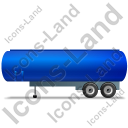 Tanker Trailer Left Blue Icon