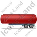 Tanker Trailer Left Red Icon