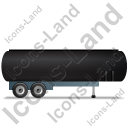 Tanker Trailer Right Black Icon