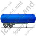 Tanker Trailer Right Blue Icon, PNG/ICO, 128x128