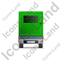Ultra Silent Generator Trailer Back Green Icon, PNG/ICO, 128x128