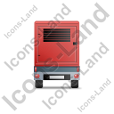 Ultra Silent Generator Trailer Back Red Icon