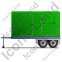 Ultra Silent Generator Trailer Left Green Icon