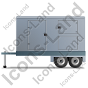 Ultra Silent Generator Trailer Left Grey Icon, PNG/ICO, 128x128